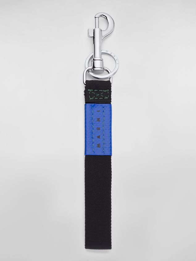 Marni Key ring in ribbon black and blue Man - 1