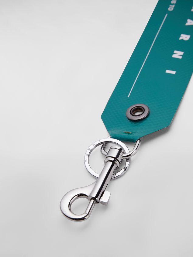 Marni Key ring in PVC green Man