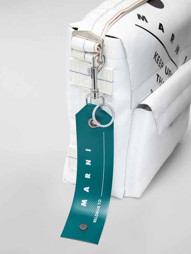 Marni Key ring in PVC green Man - 2