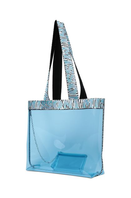 MISSONI MARE Beachwear Bag Sky blue Woman - Front