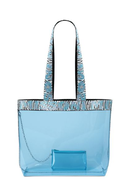 MISSONI MARE Beachwear Bag Sky blue Woman - Back