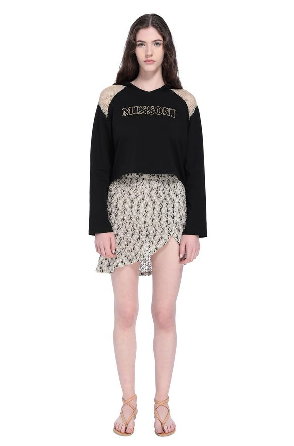 MISSONI Beachwear Sweatshirt Woman, Frontal view