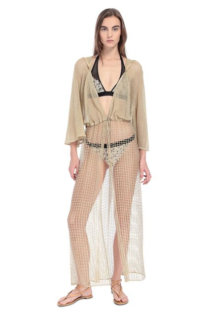 MISSONI MARE Long beach coverall Gold Woman - Back