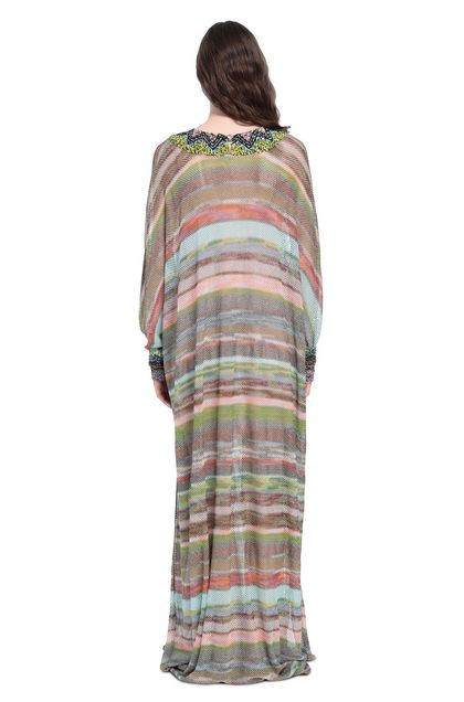MISSONI Long dress Sky blue Woman - Front