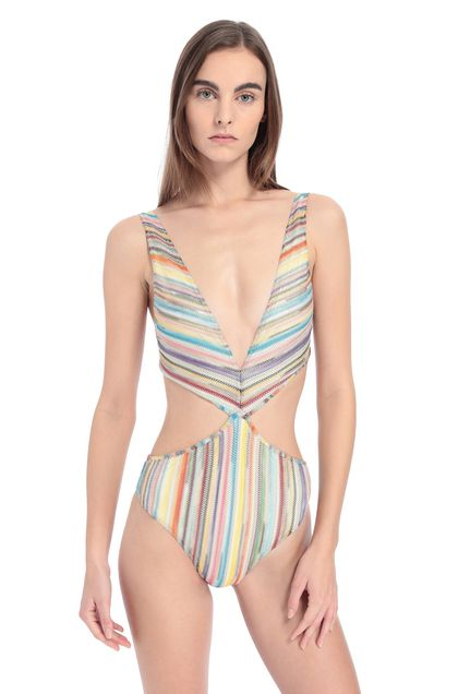 MISSONI MARE Costume intero Celeste Donna - Retro