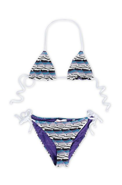 MISSONI KIDS Bikini Purple Woman - Back