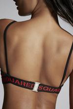 DSQUARED2 Dsquared2 Tape Bikini Top Beachwear Woman