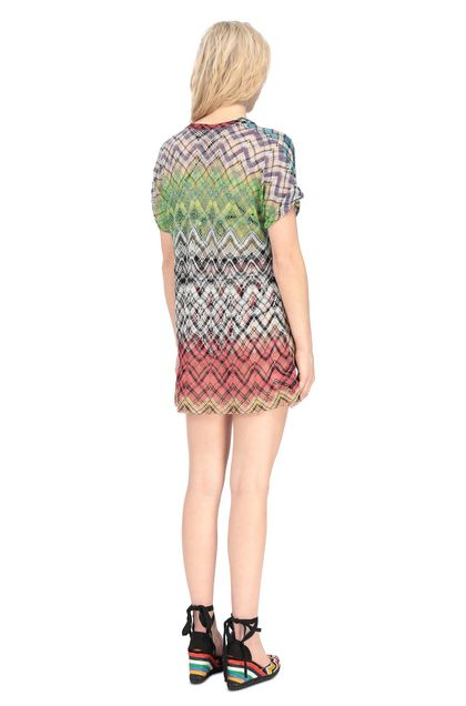 MISSONI MARE T-shirt beachwear Corallo Donna - Fronte