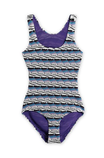 MISSONI KIDS Слитный купальник Голубой Для Женщин - Обратная сторона