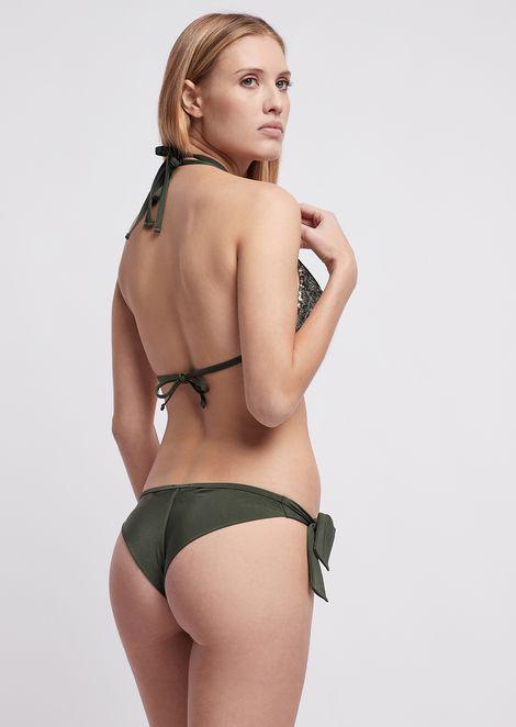 Bikini con logotipo bordado