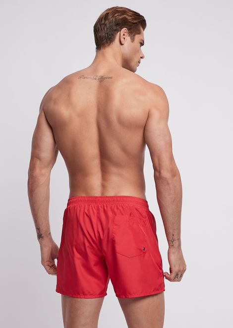 Ultralight packable swimming trunks with bag