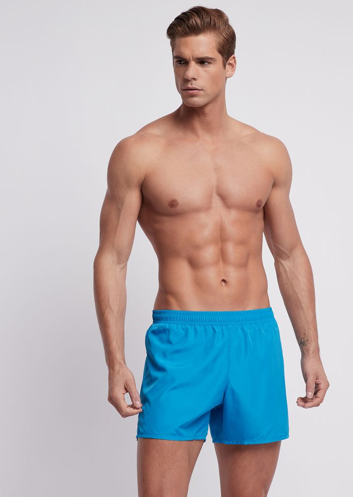 c48495ac8af13 Ultralight packable swimming trunks with bag | Man | Emporio Armani