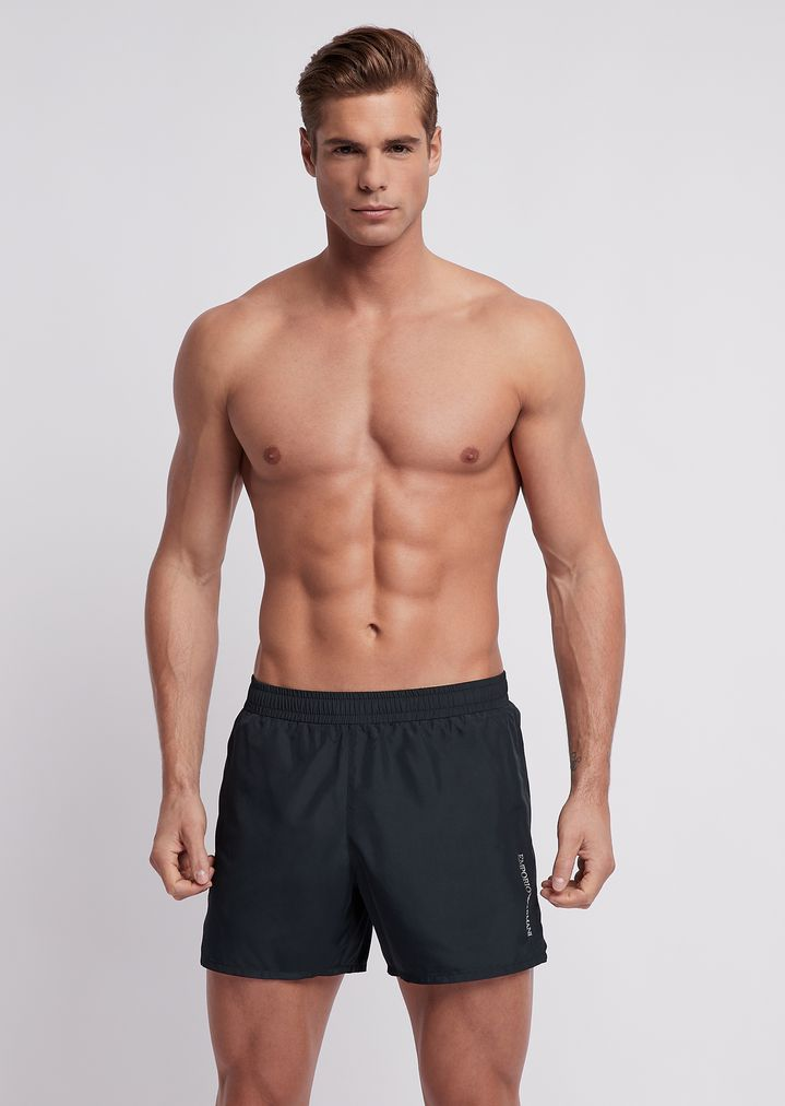 40f55ea78c Ultralight packable swimming trunks with bag | Man | Emporio Armani