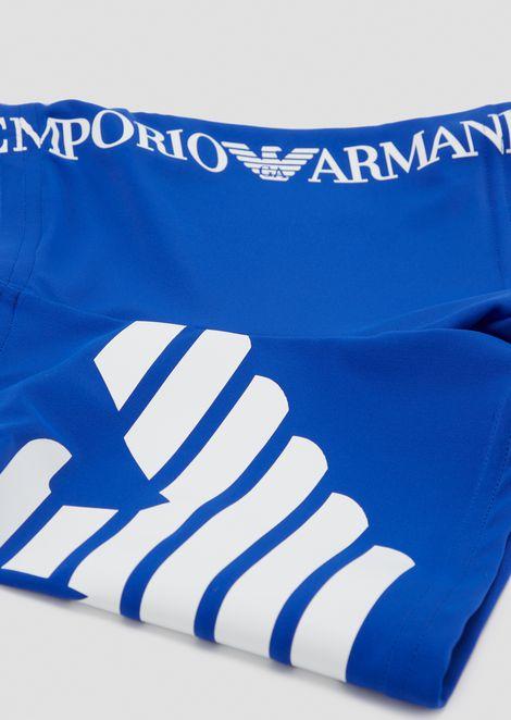 Swimming shorts with maxi-logo