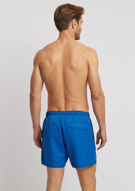 Swim shorts with logo side band