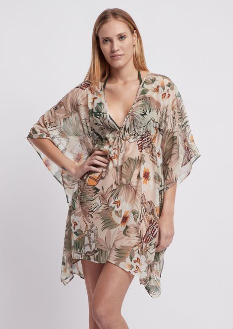c52094ade63 Kaftan in safari-patterned fabric