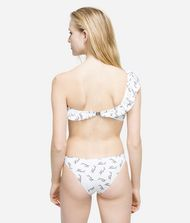 KARL LAGERFELD K/Signature Ruffle Bandeau Top Swimwear Woman e