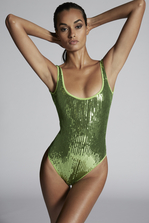 DSQUARED2 Sequined Swimsuit Costume Woman
