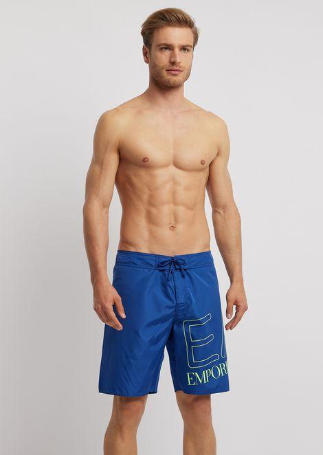 Bermuda swimming shorts with maxi logo