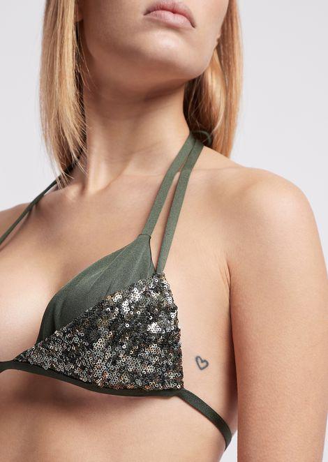 Bikini avec top à paillettes