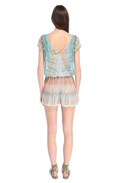 MISSONI MARE Beach Jumpsuit Turquoise Woman - Front