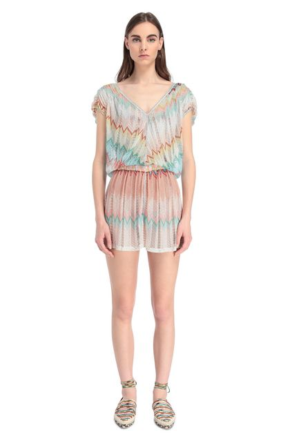 MISSONI MARE Beach Jumpsuit Turquoise Woman - Back