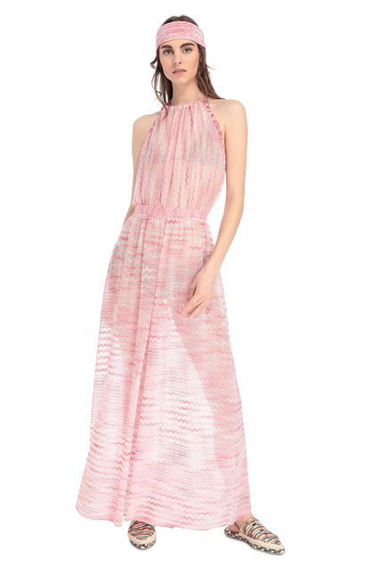 MISSONI MARE Beach Jumpsuit Pink Woman - Back