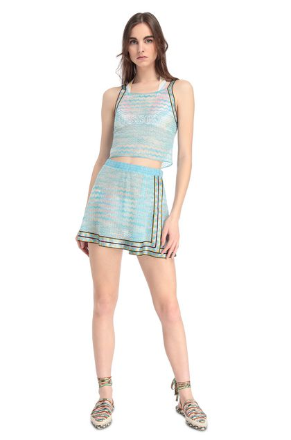 MISSONI MARE TOP BEACHWEAR Sky blue Woman - Back