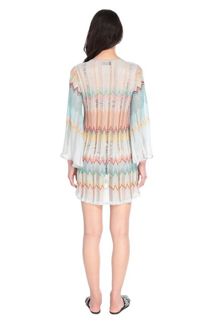 MISSONI MARE Short Beach Dress Turquoise Woman - Front