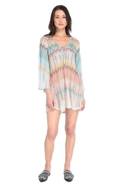 MISSONI MARE Robe de plage courte Turquoise Femme - Derrière