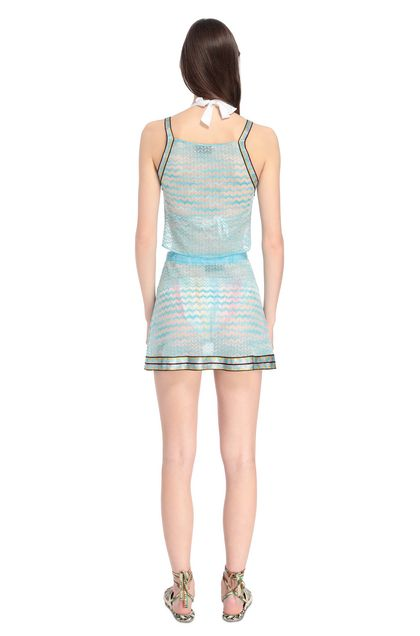 MISSONI MARE Beachwear skirt Sky blue Woman - Front