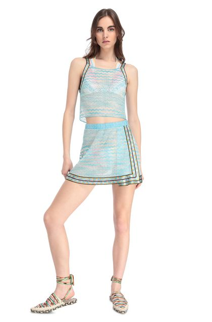 MISSONI MARE Beachwear skirt Sky blue Woman - Back