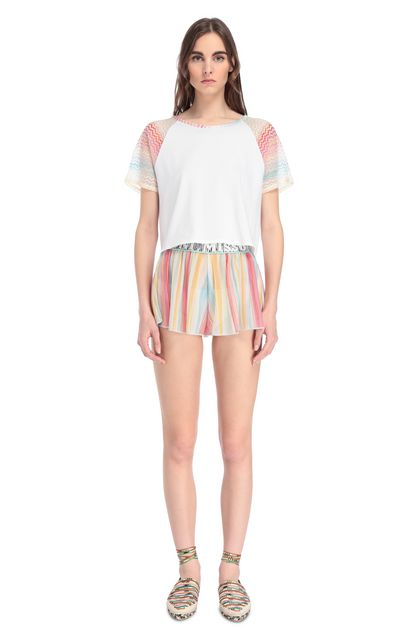 MISSONI MARE T-shirt beachwear Bianco Donna - Retro