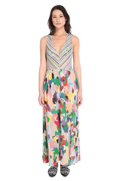 MISSONI MARE Длинное пляжное платье Жёлтый Для Женщин - Обратная сторона