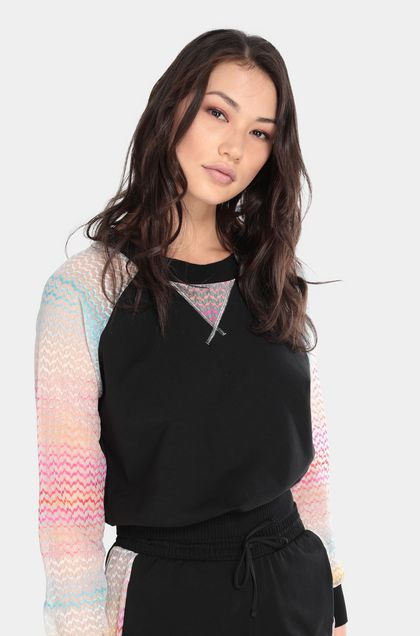 MISSONI MARE Beachwear Sweatshirt Black Woman - Front