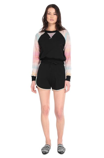 MISSONI MARE Beachwear Sweatshirt Black Woman - Back
