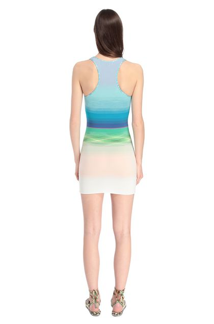 MISSONI MARE Short Beach Dress Azure Woman - Front