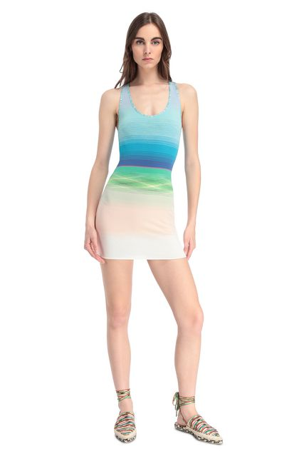 MISSONI MARE Short Beach Dress Azure Woman - Back