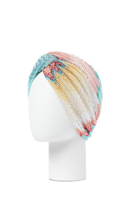 MISSONI MARE Beachwear head band Sky blue Woman - Front