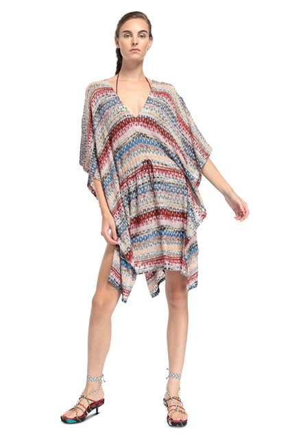 MISSONI MARE Short Beach Dress Light pink Woman - Back
