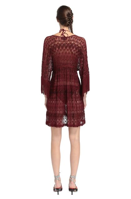 MISSONI MARE Short Beach Dress Maroon Woman - Front