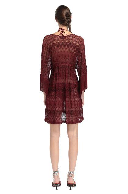 MISSONI MARE Короткое пляжное платье Бордовый Для Женщин - Передняя сторона
