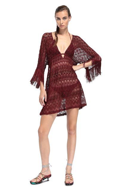 MISSONI MARE Короткое пляжное платье Бордовый Для Женщин - Обратная сторона