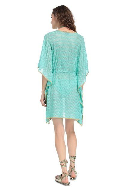 MISSONI MARE Short Beach Dress Light green Woman - Front