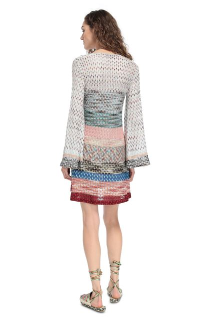 MISSONI MARE Short Beach Dress Light grey Woman - Front