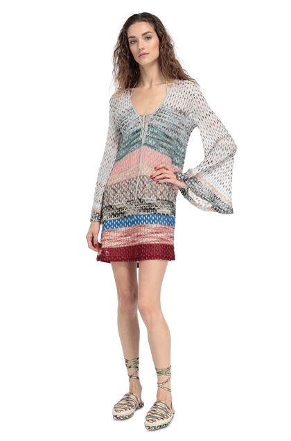 MISSONI MARE Короткое пляжное платье Светло-серый Для Женщин - Обратная сторона