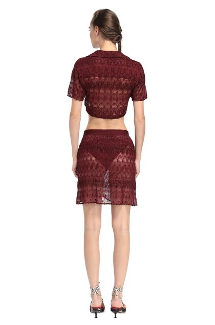 MISSONI MARE Top beachwear Maroon Woman - Front