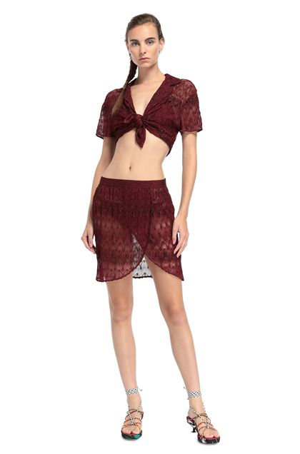 MISSONI MARE Top beachwear Bordeaux Donna - Retro
