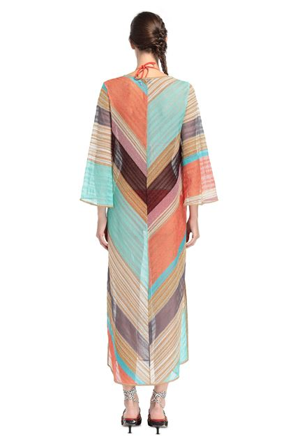 MISSONI MARE Длинное пляжное платье Светло-зелёный Для Женщин - Передняя сторона