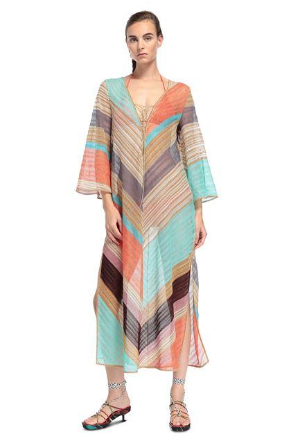 MISSONI MARE Длинное пляжное платье Светло-зелёный Для Женщин - Обратная сторона